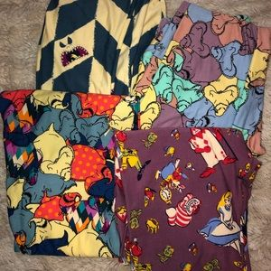 Lot of Lularoe leggings OS NBC Disney